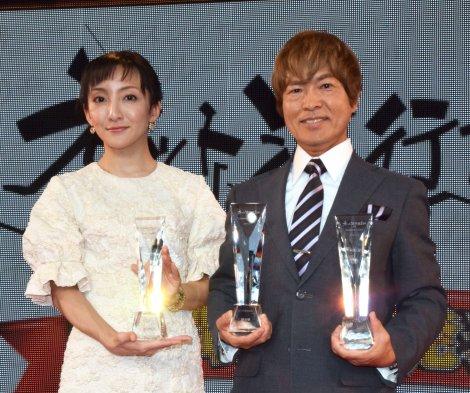 (左から)司会の松澤千晶、古谷徹 (C)ORICON NewS inc.