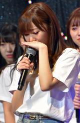 涙ながらに卒業発表する指原莉乃=『HKT48コンサート〜今こそ団結!ガンガン行くぜ8年目!〜』 (C)ORICON NewS inc.