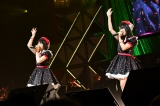 M47「ひまわりのない世界」Fortune cherry(左から)多田京加、松田祐実=『第8回AKB48紅白対抗歌合戦』より(C)AKS