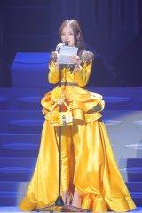 卒業コンサートでファンに向けてあいさつを行ったモーニング娘。'18の飯窪春菜