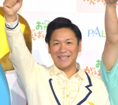 PALABOの幼児向け教育カリキュラム『おやこでがんばりマスター!』発表記者会見に出席したはんにゃ・川島章良 (C)ORICON NewS inc.