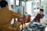 忠彦の絵画モデル役で香田家に波風を立てる(C)NHK