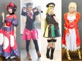 『acosta!@さいたまスーパーアリーナTOIRO』に集まったコスプレイヤー(左から)佳乃さん、柚葉さん、こやさん、一岡美羽さん (C)oricon ME inc.