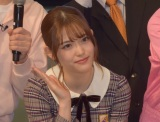 吉本坂46デビューシングル「泣かせてくれよ」の発売記念イベントの応援に駆けつけた松村沙友理 (C)ORICON NewS inc.