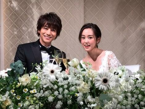 披露宴を行った(左から)三浦翔平、桐谷美玲
