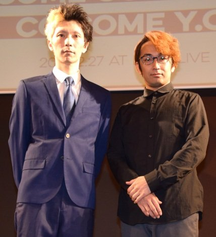 ファンクラブ限定イベント『EDISION LABO』を行ったエグスプロージョン(左から)おばらよしお、まちゃあき (C)ORICON NewS inc.