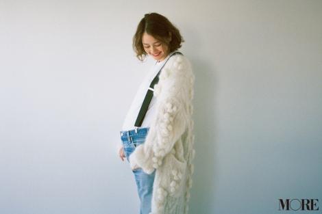 『MORE』2月号で母になる思いを語った岸本セシル(C)MORE2019 年2 月号/集英社 撮影/森脇裕介