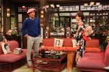 来年1月2日放送の『新春大売り出し!さんまのまんま』に出演する明石家さんま、石原さとみ (C)カンテレ