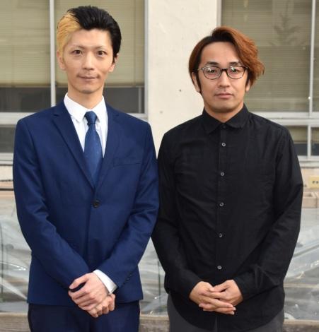 活動を再開したエグスプロージョン・おばらよしお(左)と相方のまちゃあき (C)ORICON NewS inc.