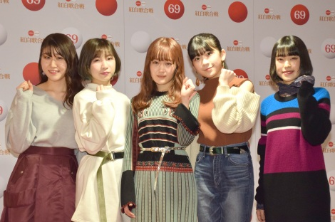 『第69回NHK紅白歌合戦』のリハーサルに参加したLittle Glee Monster(左から)かれん、MAYU、芹奈、manaka、アサヒ (C)ORICON NewS inc.
