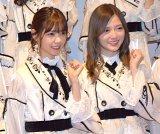 『第69回NHK紅白歌合戦』のリハーサルに参加した乃木坂46(左から)西野七瀬、白石麻衣 (C)ORICON NewS inc.