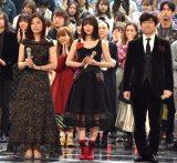 (左から)桑子真帆アナ、広瀬すず、内村光良 (C)ORICON NewS inc.