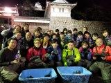 香川・丸亀城のお堀の水を抜くのは半世紀ぶり=『緊急SOS!池の水ぜんぶ抜く大作戦 お宝出た!出た!2019 2大名城プロジェクト』1月2日、テレビ東京系で放送(C)テレビ東京
