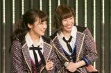 (左から)新チームNキャプテンの川上千尋、副キャプテンの石田優美(C)NMB48