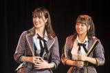 (左から)新チームBIIキャプテンの小嶋花梨、副キャプテンの山田寿々(C)NMB48
