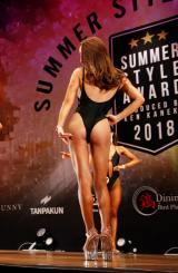『SUMMER STYLE AWARD NOVICE2018』ビューティフィットネス部門ショートクラス4位 木村由美さん 撮影/徳永徹 (C)oricon ME inc.