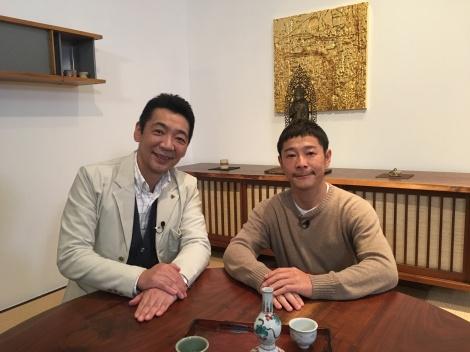 『新春ミヤネ屋』で対談する(左から)宮根誠司、前澤友作社長 (C)読売テレビ