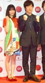 『第69回NHK紅白歌合戦』のリハーサルに参加した(左から)広瀬すず、内村光良、櫻井翔 (C)ORICON NewS inc.