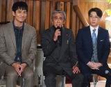 『刑事ゼロ』制作発表会見に登壇した(左から)沢村一樹、寺島進、横山だいすけ (C)ORICON NewS inc.