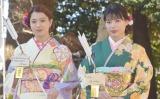 E-girls石井&武部、晴れ着で初詣