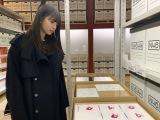 『乃木坂46 Artworks だいたいぜんぶ展』を観覧した齋藤飛鳥(C)乃木坂46LLC