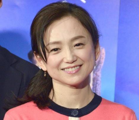 NHK土曜ドラマ『みかづき』の試写会後会見に出席した永作博美 (C)ORICON NewS inc.