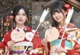 晴れ着姿で成人式を行った乃木坂46(左から)寺田蘭世、齋藤飛鳥 (C)ORICON NewS inc.