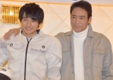 映画『車線変更−キューポラを見上げて』の制作発表記者会見した(左から)平田雄也、村上弘明 (C)ORICON NewS inc.