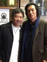 授賞式に出席した(左から)是枝裕和監督、イ・チャンドン監督