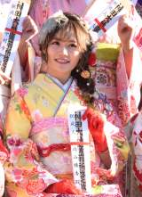 『AKB48グループ 2019年新成人メンバー 成人式記念撮影会』に参加した込山榛香 (C)ORICON NewS inc.