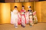 『AKB48グループ 2019年新成人メンバー 成人式記念撮影会』に参加したNGT48(左から)中村歩加、荻野由佳、加藤美南 (C)AKS