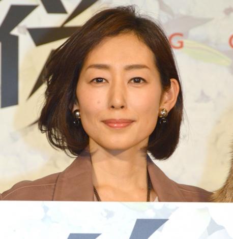ドラマ『後妻業』の制作発表会見に出席した木村多江 (C)ORICON NewS inc.