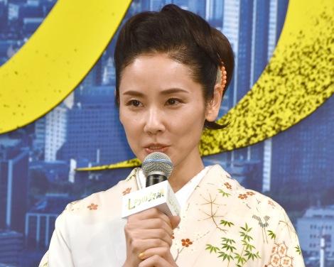 映画『七つの会議』完成報告記者会見に登壇した吉田羊 (C)ORICON NewS inc.