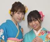『3年A組』で共演を果たした元Dream5の(左から)日比美思、大原優乃 (C)ORICON NewS inc.