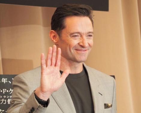 映画『フロントランナー』(2月1日公開)のプロモーションで来日。笑顔で手を振るヒュー・ジャックマン (C)ORICON NewS inc.