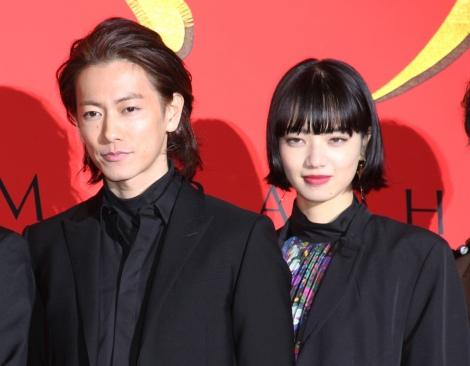 映画『サムライマラソン』完成披露イベントに出席した(左から)佐藤健、小松菜奈 (C)ORICON NewS inc.