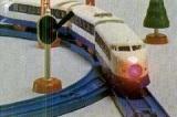 初のライト付き車両「ライト付きひかり号」(1979年)(C)TOMY