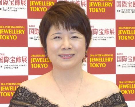 『第30回 日本ジュエリー ベストドレッサー賞』の授賞式に出席した森昌子 (C)ORICON NewS inc.