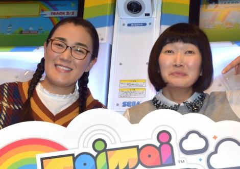 唯一断った仕事を明かしたたんぽぽ(白鳥久美子、川村エミコ)=JAEPO2019セガ『maimaiでらっくす』ステージ (C)ORICON NewS inc.