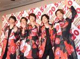 嵐(左から)松本潤、大野智、櫻井翔、二宮和也、相葉雅紀=『ARASHI Anniversary Tour 5×20』東京ドーム公演前囲み取材 (C)ORICON NewS inc.
