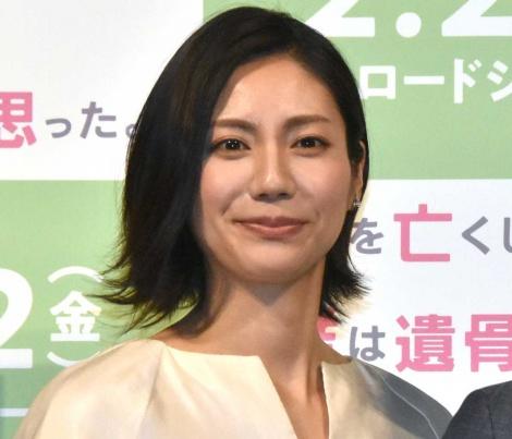 映画『母を亡くした時、僕は遺骨を食べたいと思った。』完成披露試写会に出席した松下奈緒 (C)ORICON NewS inc.