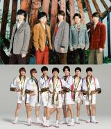 2月1日放送のテレビ朝日系『ミュージックステーション』3時間スペシャルに出演する嵐(上)とジャニーズWEST(下)