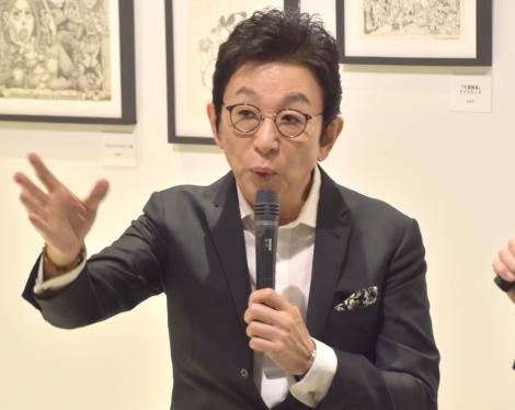 原画展『OLD&NEW 松下進個展』オープニングトークショーに登場した古舘伊知郎 (C)ORICON NewS inc.