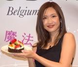 バレンタイン限定手作りチョコレートケーキキット「My Heart Chocolate Cake Set」を体験した紗栄子(C)ORICON NewS inc.