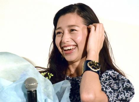 映画『雪の華』公開記念舞台あいさつイベントに出席した中条あやみ (C)ORICON NewS inc.