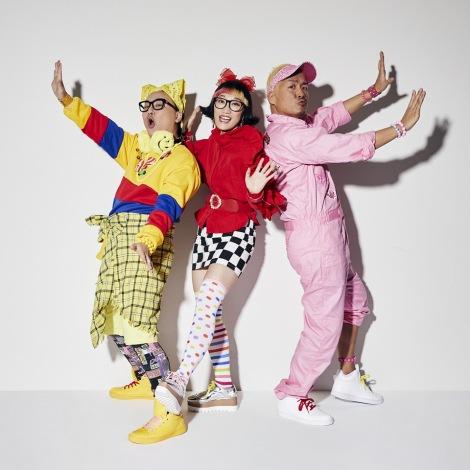 3人組ユニット・POP MONSTER 左からたかし(トレンディエンジェル)、松浦志穂(スパイク)、マサルコ