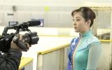 『今だから話します!平成最後にアスリート初告白SP』水卜麻美アナが荒川静香役で再現VTRに挑戦 (C)日本テレビ