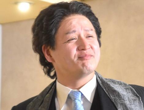 「親方」というキャラクター設定で登場したガリットチュウ・福島善成=牛角『みんなの肉の日』発表会 (C)ORICON NewS inc.