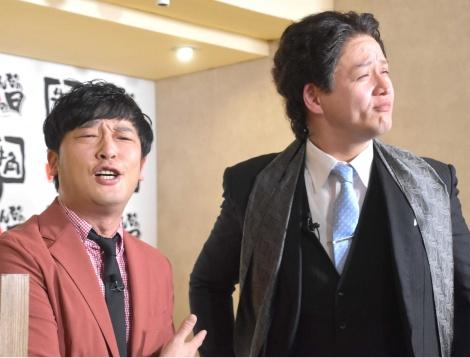 牛角『みんなの肉の日』発表会に出席したガリットチュウ・熊谷岳大、福島善成 (C)ORICON NewS inc.