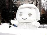 『第70回さっぽろ雪まつり』市民などによる雪像のモチーフとして、今年はチコちゃんが人気 (C)ORICON NewS inc.